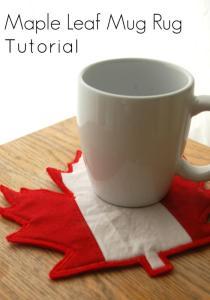 Canadian Flag Mug Rug