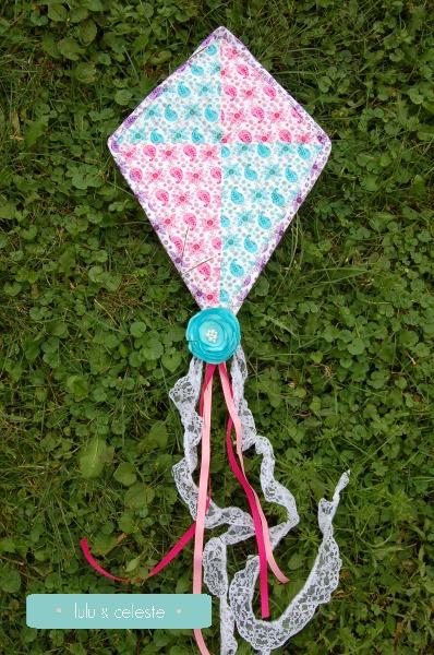Flutterby Kite sewn by Lulu & Celeste