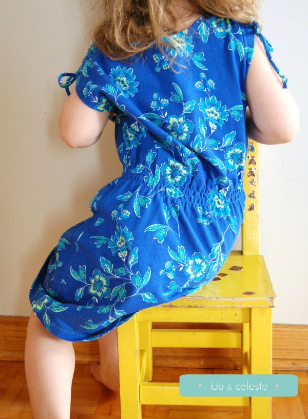 Indigo dress pattern from petitboo patterns sewn by Lulu & Celeste