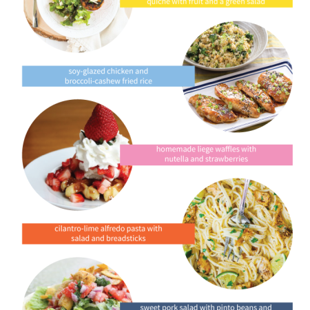 5 great menu ideas for easy weeknight dinners that the whole family will love.