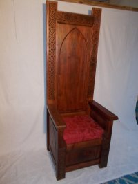 Celtic Chair/Throne - by Paul @ LumberJocks.com ...