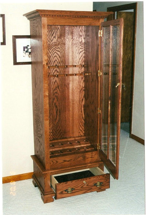 Sheridan Lumber Red Oak Gun Cabinet - By Deermann @ Lumberjocks.com