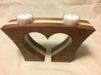 heart shaped tea light candle holder - by pressjockey ...