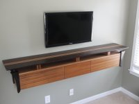 Wenge and Sapele wall mounted TV console 2.0 - by Jamie ...