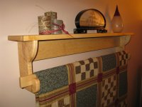Wall hanging Quilt Rack and Shelf (2) - by Paul Pomerleau ...