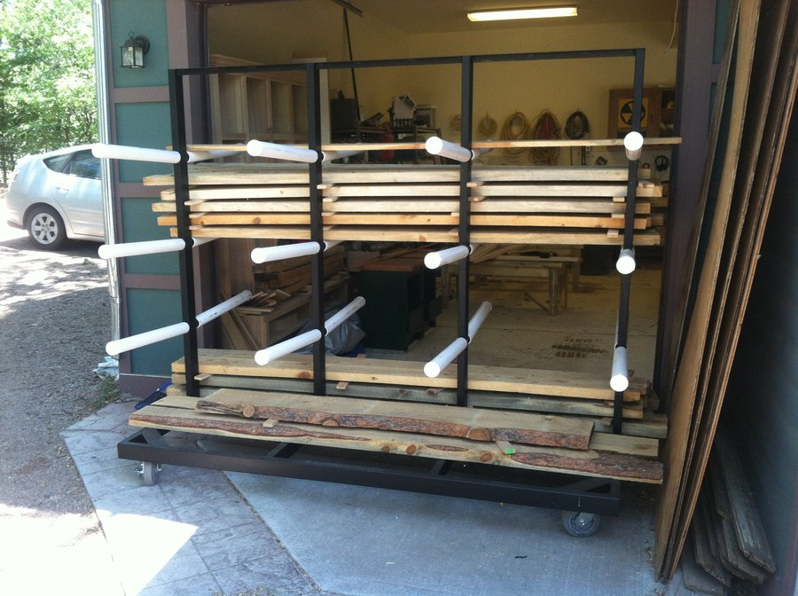 Mobile Wood Rack By Lightfootltd Lumberjockscom