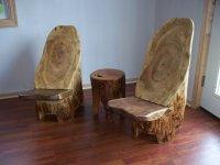 Tree hugger Log Stump Chairs ... a pair - by TexPenn ...