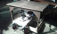 Rolling shop/ assembly table - by BusterB @ LumberJocks ...