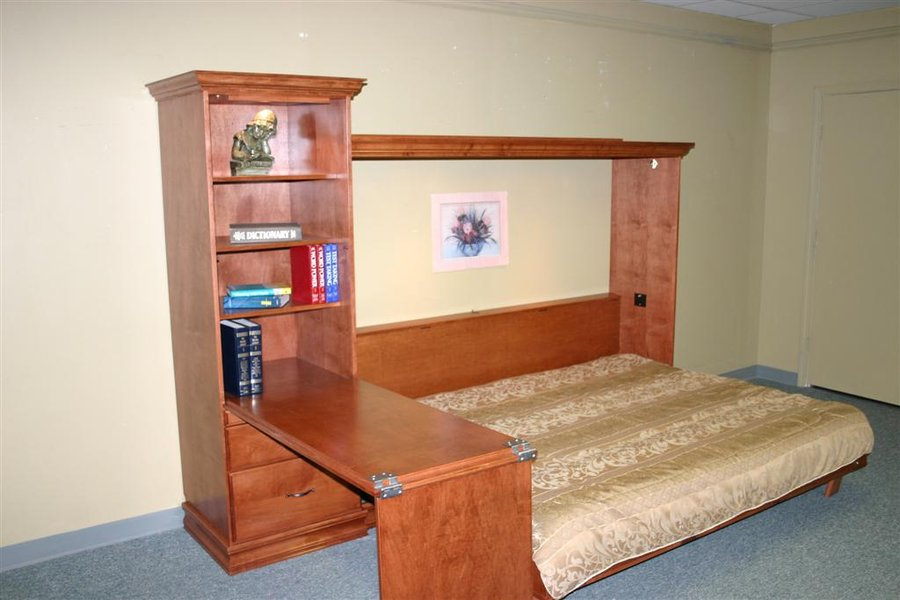 Murphy Bed Desk Ross Murphy Bed With Bookcase/desk | Custom - By Chris