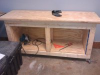 Roll around workbench/out feed table/tool cabinet/assembly ...