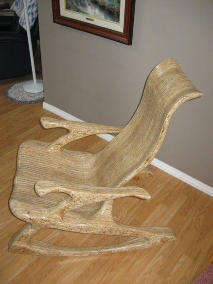 Led Couch My Glued-up, Laminated, Sculpted, Osb Cole Inspired Rocker