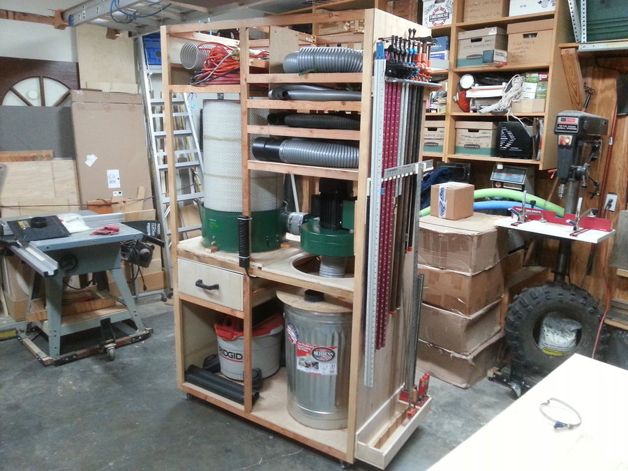 Dust Collector Clamp Rack Cart By Timbertailor