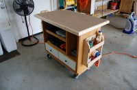 Rolling work cart/assembly table/outfeed table - by Cory ...
