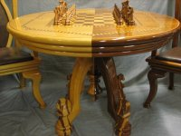 """Chess Set, Table, & chairs. some better pictures - by ..."