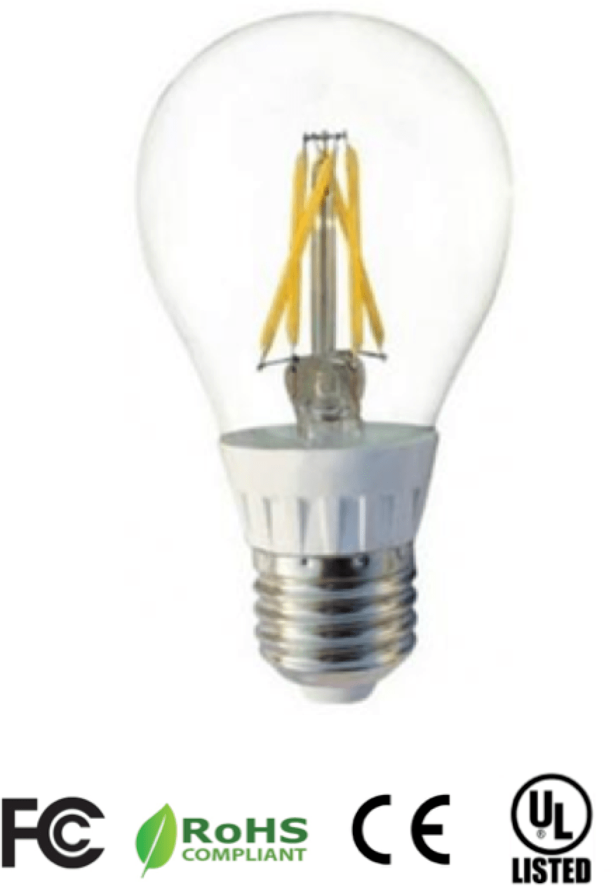 5 Watt Led 5 Watt A19 Filament Type Dimmable Led Bulb