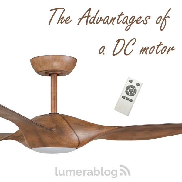 What are the advantages of a DC ceiling fan?
