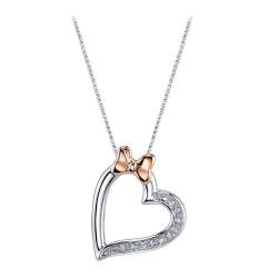 Sparkling Minnie Mouse Diamond Heart Necklace Minnie Mouse Diamond Heart Necklace Shopdisney Diamond Heart Necklace Kay Jewelers Diamond Heart Necklaces Kays Outlet