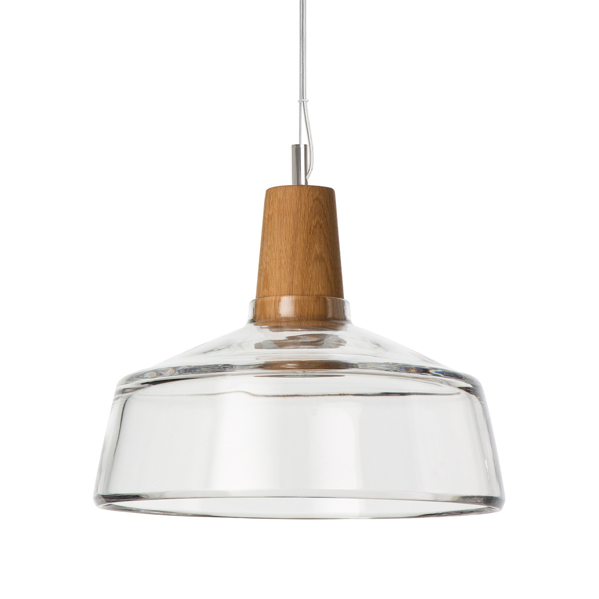 Suspension Luminaire Grand Diametre Suspension Industrielle En Bois Et En Verre Soufflé