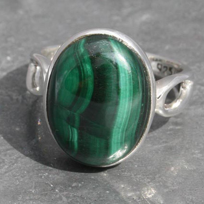 Malachite Oval Ring