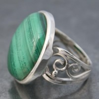 Malachite Wire Band Ring | Lumina Jewellery