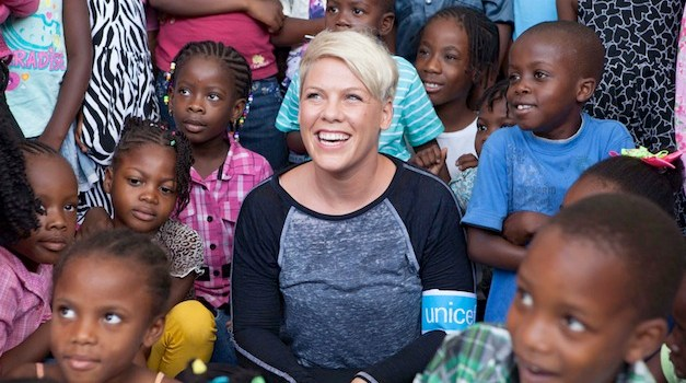 P!nk to Promote Global Children's Health as New UNICEF Ambassador
