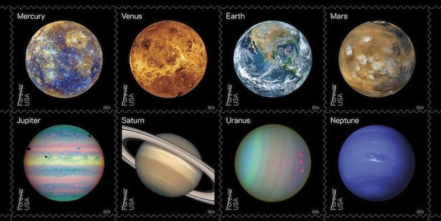 USPS to Issue Exclusive NASA Stamps in June, Featuring Solar System and Pluto