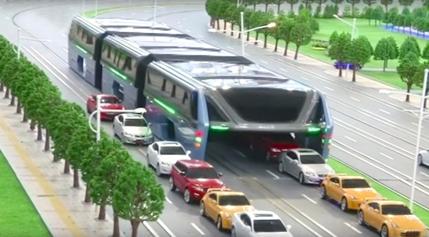 This Elevated Bus May Reduce Traffic in The World's Most Congested Cities