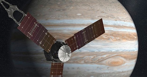 NASA's Solar Powered Spacecraft 'Juno' Enters Jupiter's Orbit 365 Million Miles Away