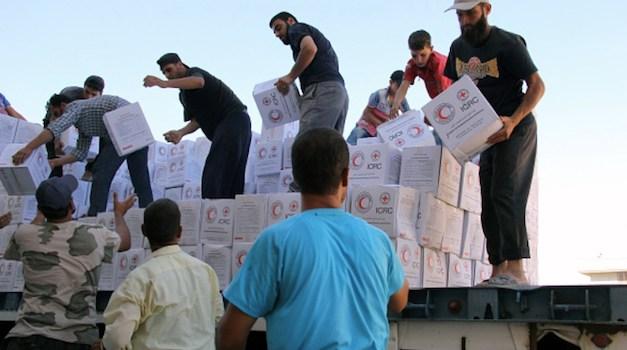 First Humanitarian Aid Convoy This Month Reaches Syrian Civilians