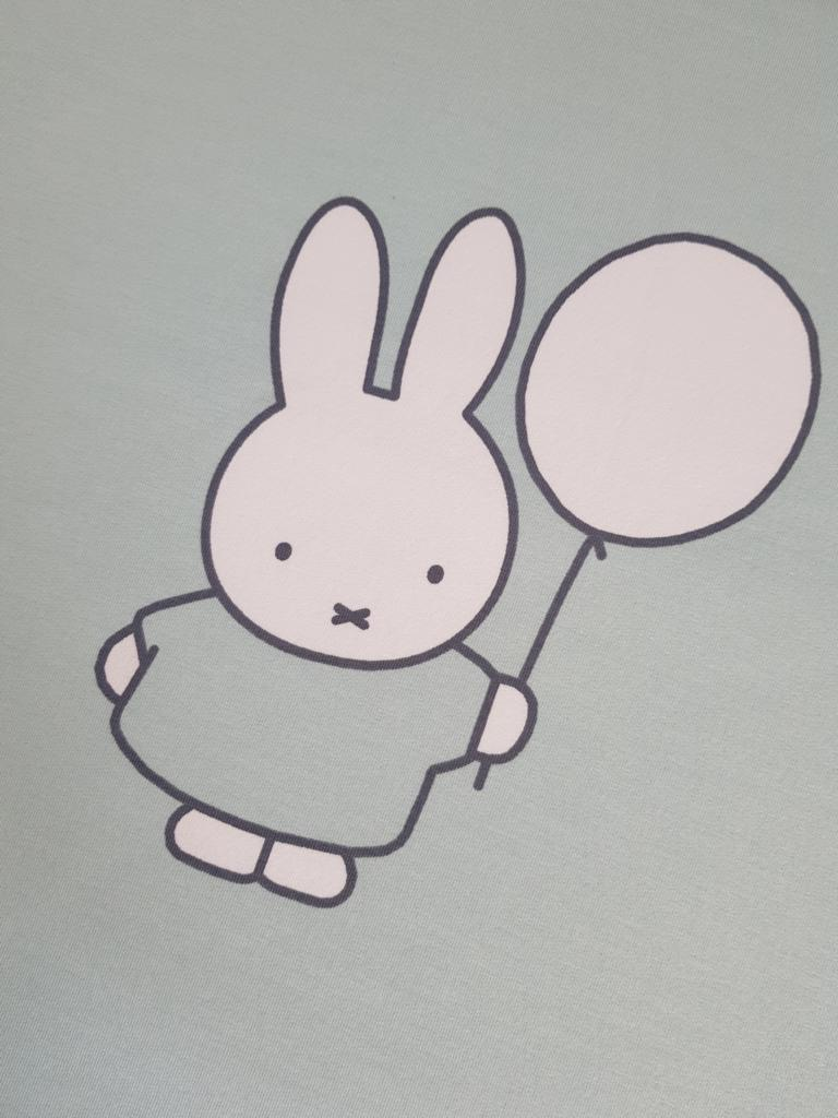 Sweat Stoff Meterware (18€/meter) Sweat 50cmx150cm Meterware Miffy Hase Häschen