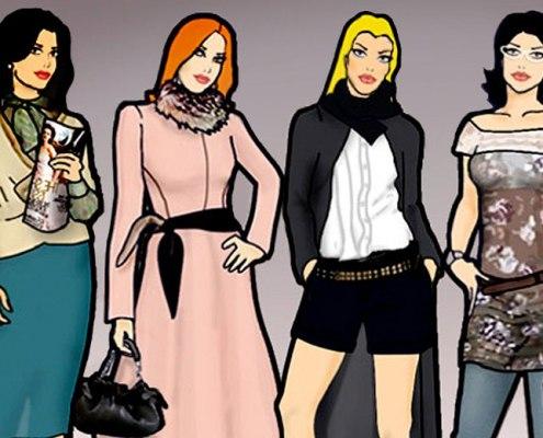 """Ilustração :: """"Meninas da Moda"""""""