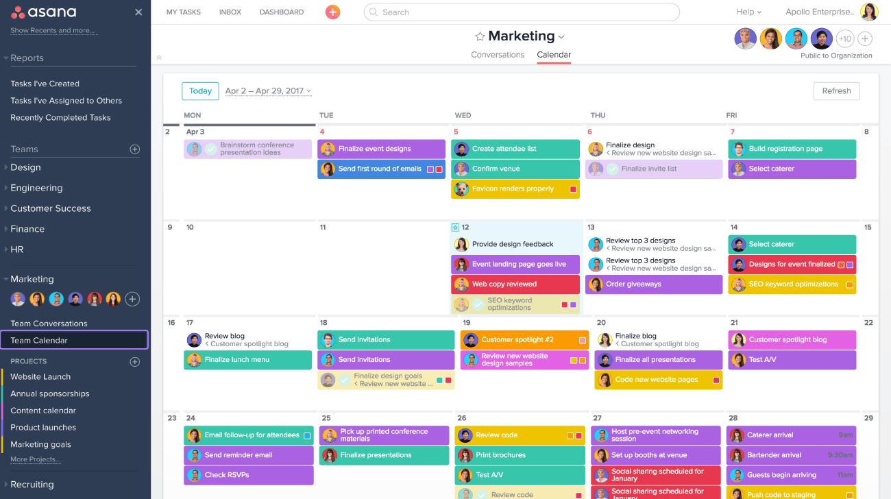 Planning With Asana Calendar Product Guide Asana