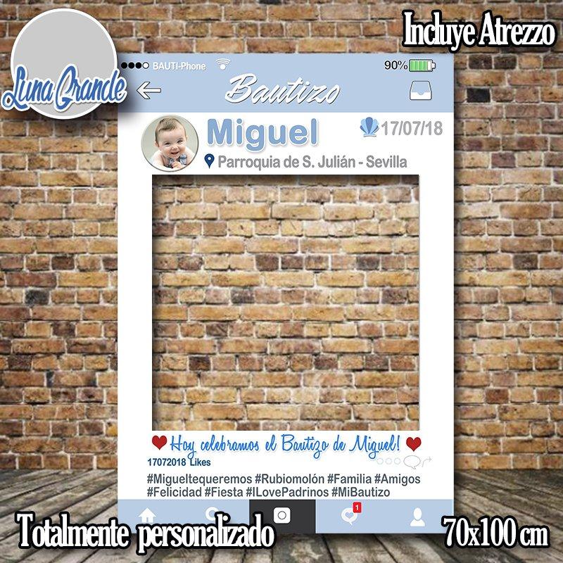 Photocall Marco Bautizo 100 personalizado con Envío gratis
