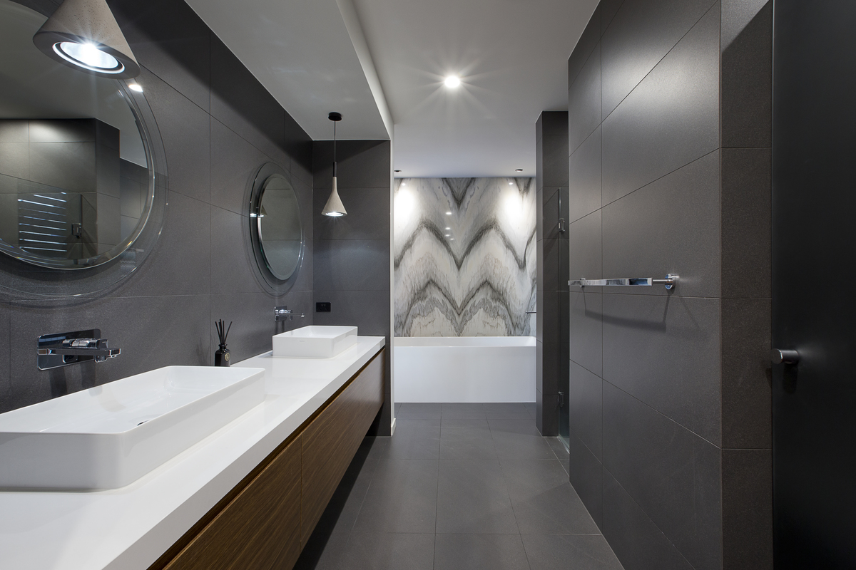Bathroom Mirrors Brisbane From 3980s Dated To 3960s Modern Gold Coast Home Transformed