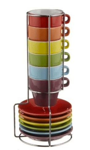 Colorful Stackable Espresso Cups Lungo Cups For