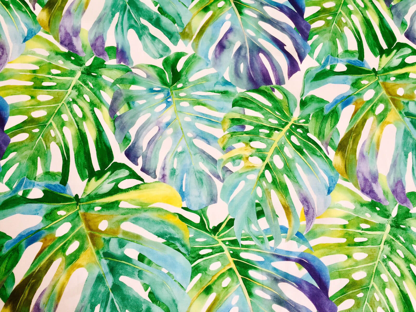 Tropical Artwork Tropical Leaves 2 Palm Leaf Fabric Curtain Upholstery