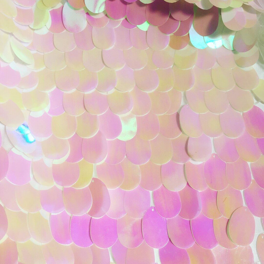 Pink Sequin Curtains Jumbo Sequin Fabric Teardrop Sequins Stretch Material For Wedding Curtains Backdrop Decor 130cm Wide Sparkling Iridescent Pink