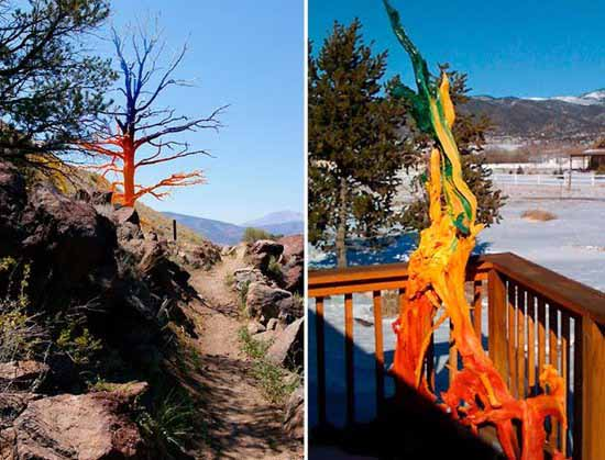 Arboles Secos Pintados Bright Painting Ideas For Decorating Trees, Creative