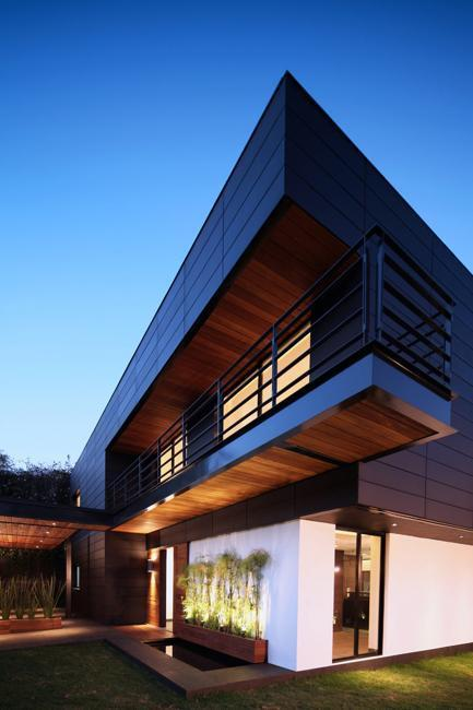 Feng Shui Contemporary House Design With Exterior Ceramic Panels And
