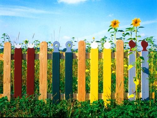 Zaun Bauen Colorful Painting Ideas For Fences Adding Bright