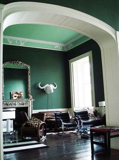 How To Get Into Interior Decorating Modern Interior Design And Decor In Malachite Green Colors