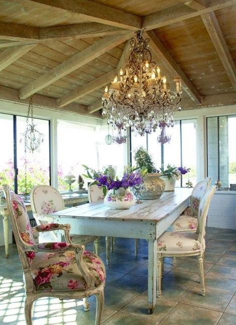 Esszimmer Cottage Modern Dining Room Design And Decorating In Vintage Style