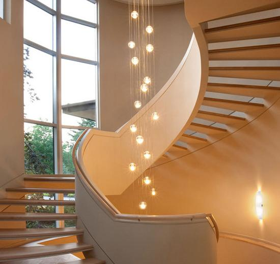 Bathroom Chandeliers 22 Creative And Modern Lighting Ideas For Staircase Design