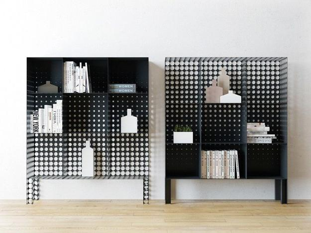 Modern Fireplace Screen Perforated Designs Bringing Light And Playful Geometry