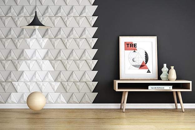 3d Designs in Bright Colors, Modern Wall Panels Show Creative Trends
