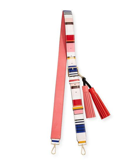 kate spade new york Mix It Up Striped Strap & Tassel Pack