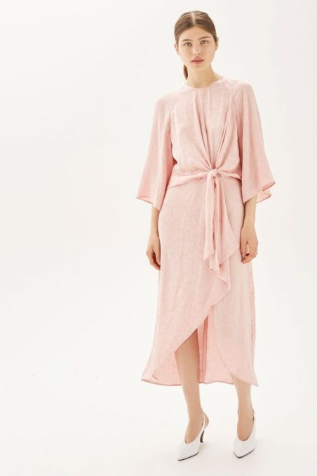 Topshop knot midi dress