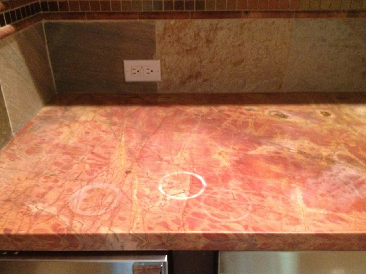 How To Remove Stains From Bathroom Countertops Etch Remover For Correcting Dull Spots On Marble And