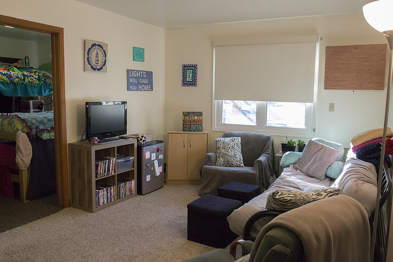 Living Room Desk College Apartments | Residence Life | Luther College