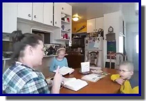 Video – Mom helps young children memorize Third Article, Lord's Prayer Introduction & 1st Petition